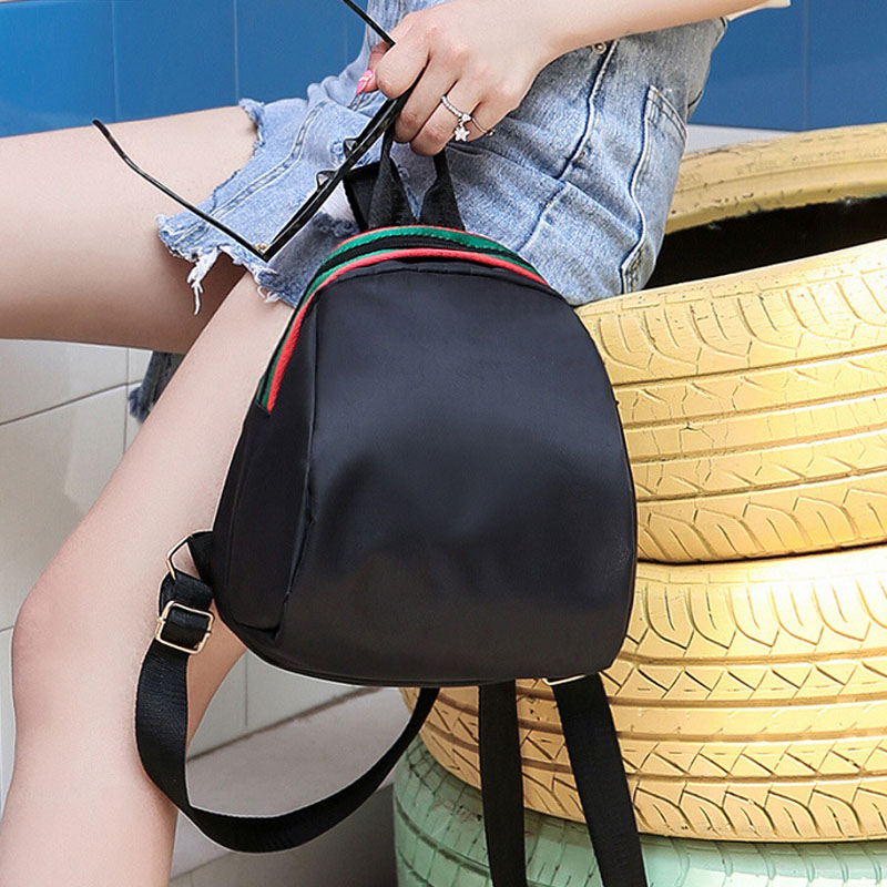 Wooalt Female Mini Travel Backpack Women Oxford Cloth Rucksack Waterproof School Bags for Teenage Girls Small Sports Backpack in Backpacks from Luggage Bags