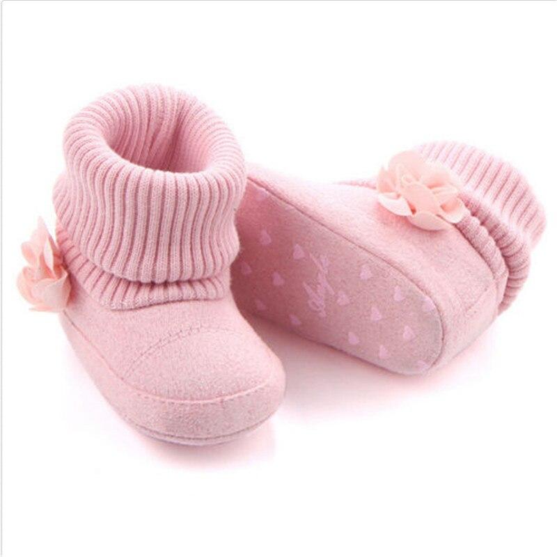 2017 Winter Baby Mädchen Floral Weiche Warm Booties Infant Anti Slip Schnee Stiefel Schuhe Das Ganze System StäRken Und StäRken