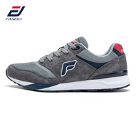 FANDEI Retro Classic Running Shoes For Men Winter Walking Sneakers Suede Leather Mesh Lace Up Outdoor
