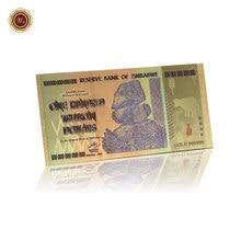 Ценные сборные банкноты Зимбабве яркие золотые банкноты сто трлн. долларов сувенирные подарки