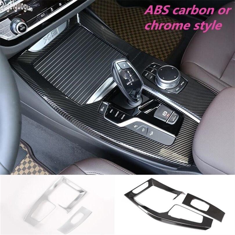 ABS углеродное волокно/хром стиль для BMW X3 G01 X4 G02 2018-20 автомобильный переключатель передач авто отделка декор мультимедийная ручка рамка Крыш...