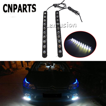 CNPARTS Car Waterproof Eagle Eye DRL Running Fog Lamp 10 LED Lights For Mercedes W203 W211 W204 W210 Benz BMW F10 E34 E30 F20 X5 image