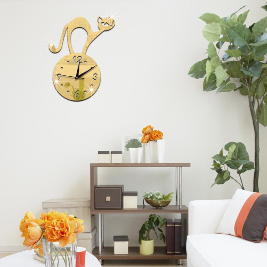 Aliexpress.com : Buy Modern DIY Wall Clock 3D Mirror ...