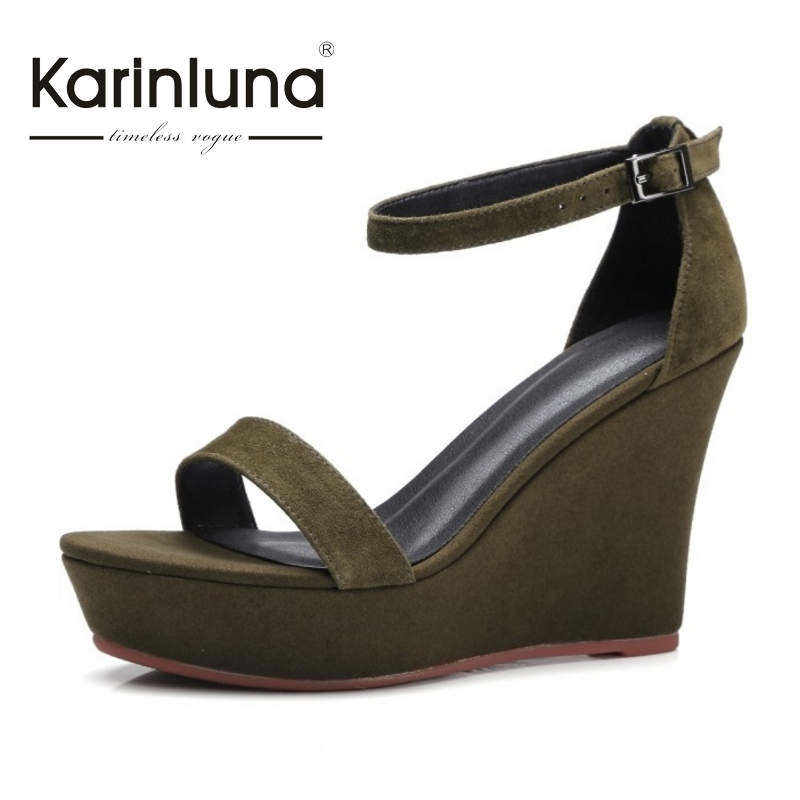 2017 platform kid suede nature leather buckle strap women shoes woman sandals sexy wedges high heels rome style party chnhira 2017 suede gladiator sandals platform wedges summer creepers casual buckle shoes woman sexy fashion high heels ch406