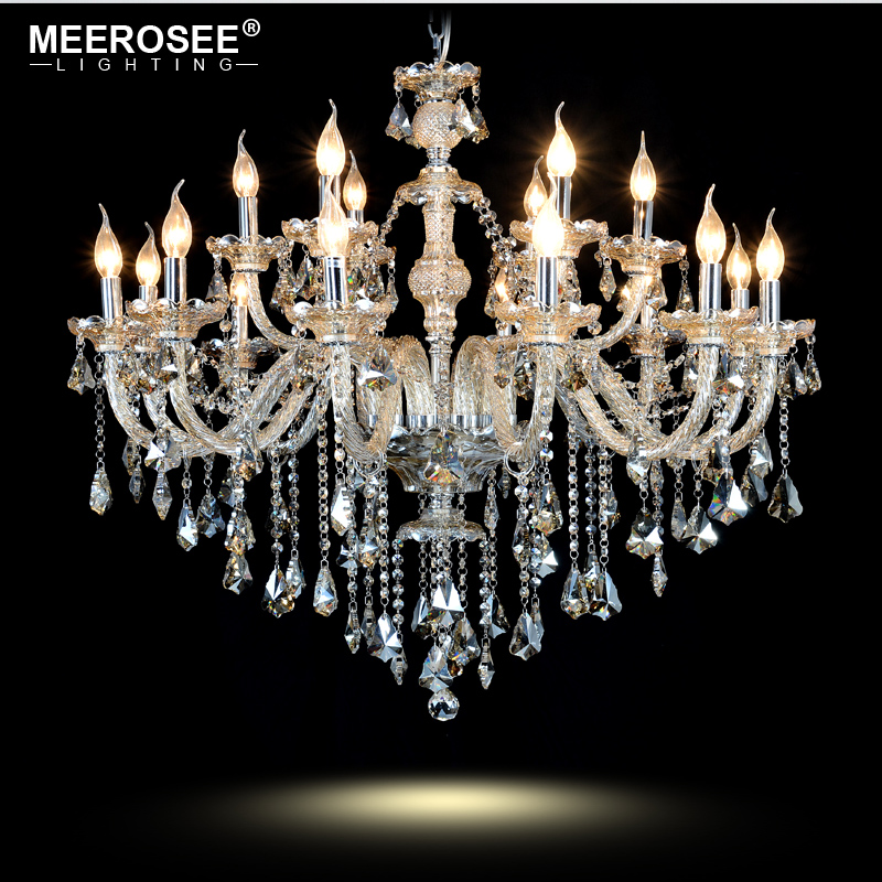 Modern Glass Chandelier Cognac Crystal lustres de cristal Chandelier Lamp Lighting Lamparas for Home Decoration Hotel Project