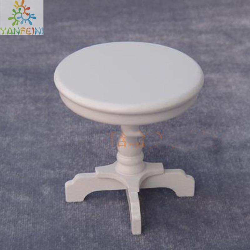 Dollhouse Mini Round Coffee Table End Table Dollhouse Furniture Baby  Furniture Toys Kids Toys U0026 Hobbies Brinquedos