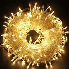 Новинка 600 светодиодов 100 м мигающая Гирлянда освещение для наружной/внутренней свадебной вечеринки Рождественская елка мерцающие сказочные декоративные огни