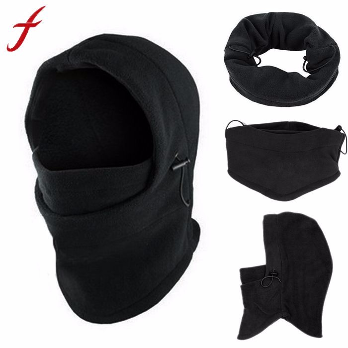 Fleece Hood 6 in1 Winter Hat Men Skullies Beanies Hats For Men Women Wool Scarf Mask Hat Caps Balaclava Beanie Knitted Hat Male