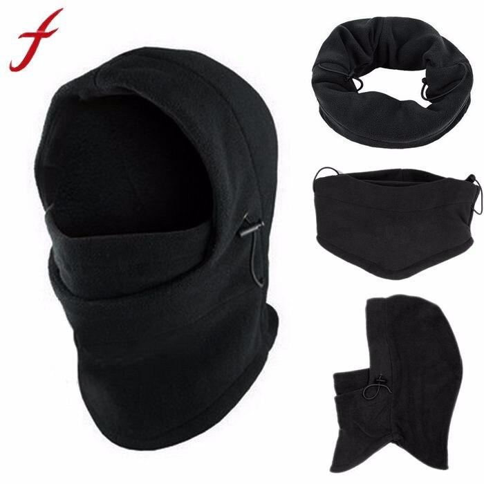 Fleece Hood 6 in1 Winter Hat Men   Skullies     Beanies   Hats For Men Women Wool Scarf Mask Hat Caps Balaclava   Beanie   Knitted Hat Male