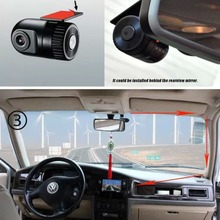 Discount! Mini Bullet Car DVR auto vehicle Camera 120 Wide Degree Video Recorder Camcorder Dash Camera  Novatek 96620 HD DVR
