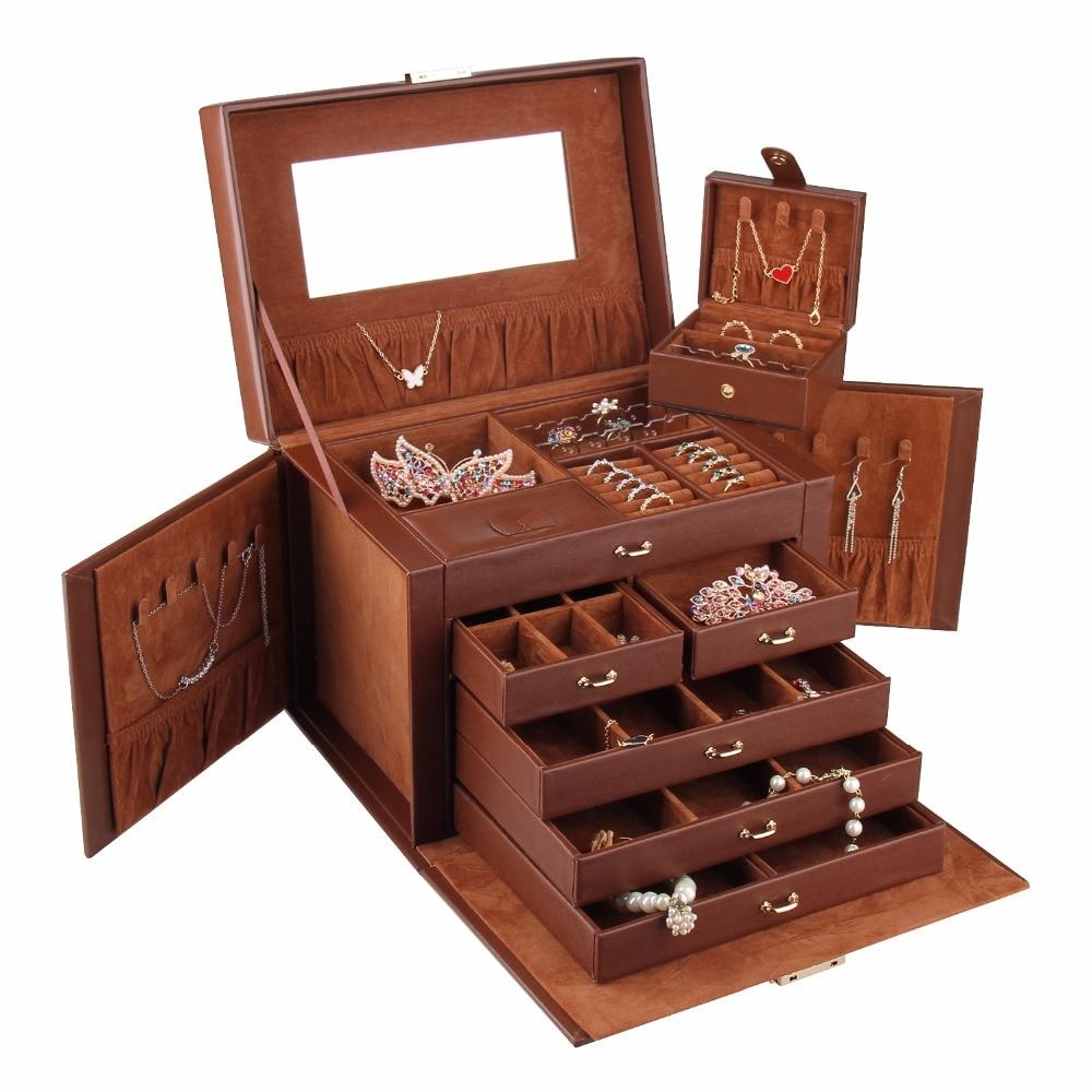 Brown Large Jewellery Box