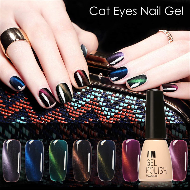 FOCALLURE IM 3D Cat Eyes nail Gel 30 colors 7ML Soak Off Led UV Gel ...