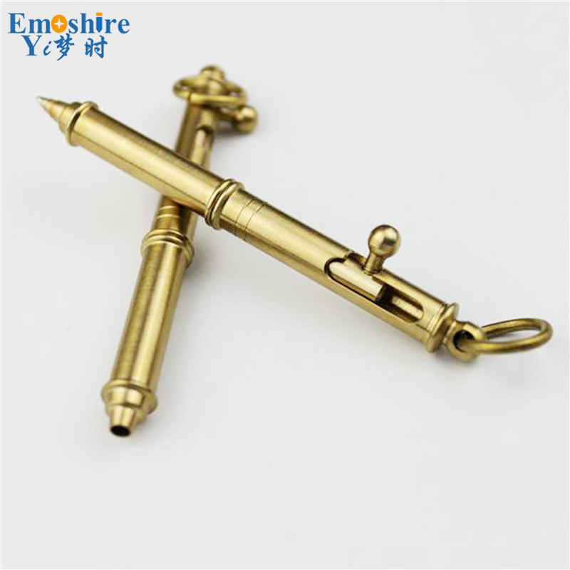 Top Quality New Ballpoint Pen Logo Custom Ballpoint  Pen Creative Brass Pen for Writing Smooth for School Students Gifts P146
