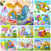 Mosaic Crystal Diamond Stickers Children's Handmade Material Pack EVA Stereo Sticker Kindergarten Diy Creative Toy