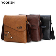 купить Male Famous Brand  Design pu Leather Men Bag Casual Business Mens Messenger Bag Vintage Men's Crossbody Bag bolsas  JIE-040 по цене 1074.66 рублей