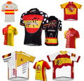 Испания команда дорожный мотоцикл MTB задействуя джерси испания флаг велосипед джерси / рубашка одежда для велосипеда Ropa Ciclismo высокое качество быстрого сухие