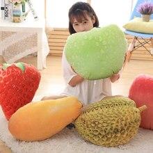 Paded Fruits Stuffed Soft Creative Simulation Plush Back Cushion Toys Sofa