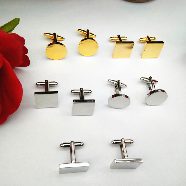 8b43b915db2 men's personalized gifts,customized silver or gold cuff links, different  shapes business cuff links