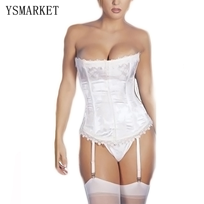 Bridal White Stunning lace   Corset   top women   bustiers   corselets H0254 new 2018 women gothic   corsets   white black corpete corselet