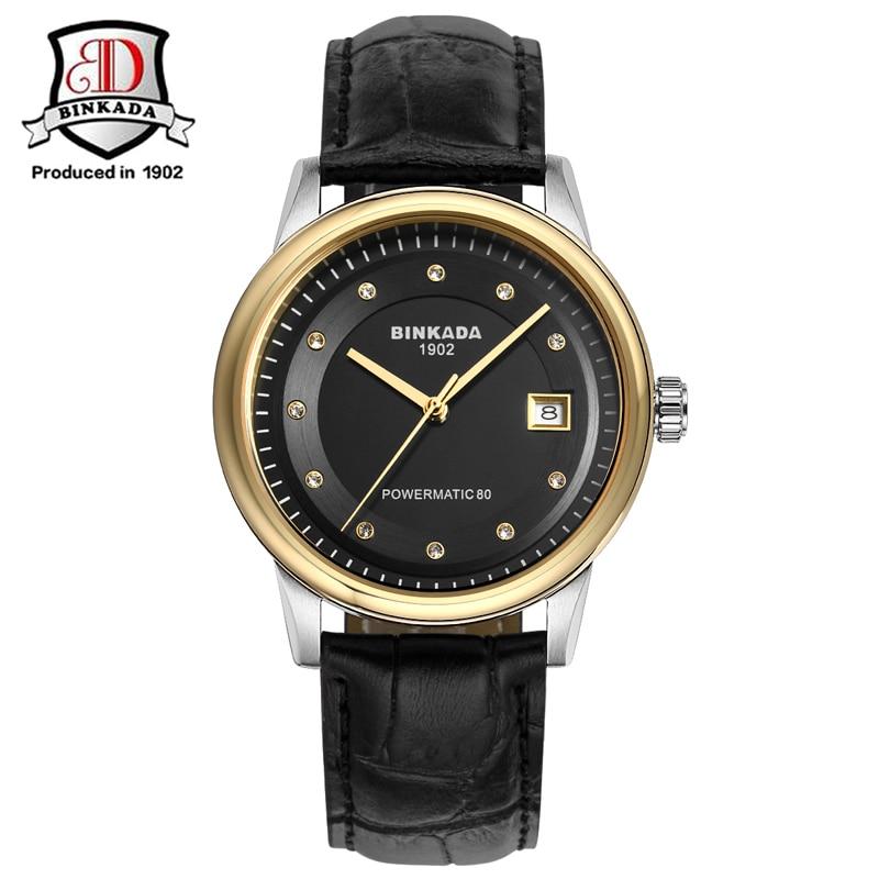 ФОТО 2017 New BINKADA Full Steel Luxury Designers Business Automatic Mechanical Watches Day Calendar Original Relogio Male Atomic