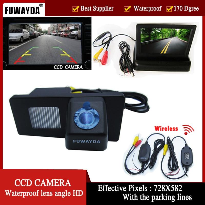FUWAYDA Sans Fil Couleur De Voiture CCD Caméra de Recul pour Ssangyong  Rexton Ssang yong Kyron, avec 4.3 Pouce pliable LCD moniteur 90dfbeeffc9a