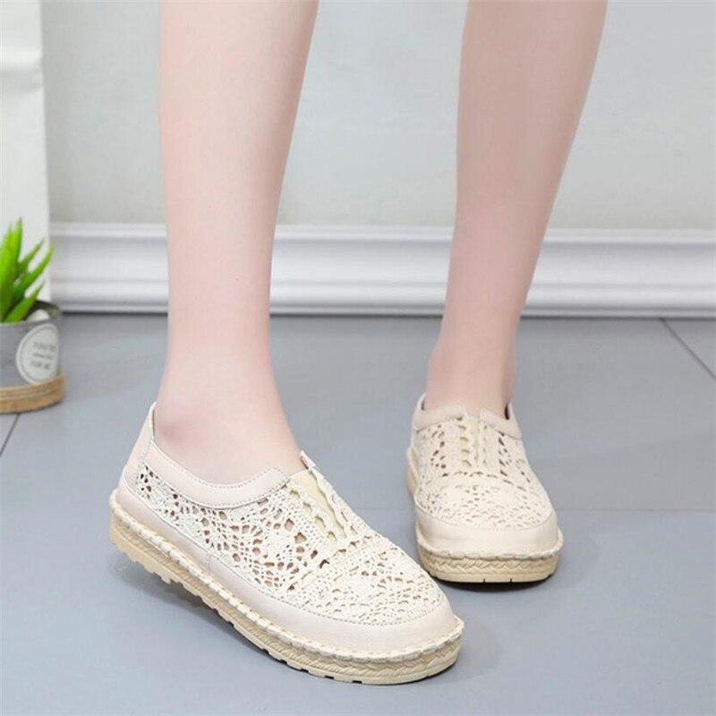 COOTELILI/женские туфли оксфорды на плоской подошве; Женские лоферы без шнуровки с закругленным носком; Дышащая женская обувь на плоской подошве|Обувь без каблука|   | АлиЭкспресс