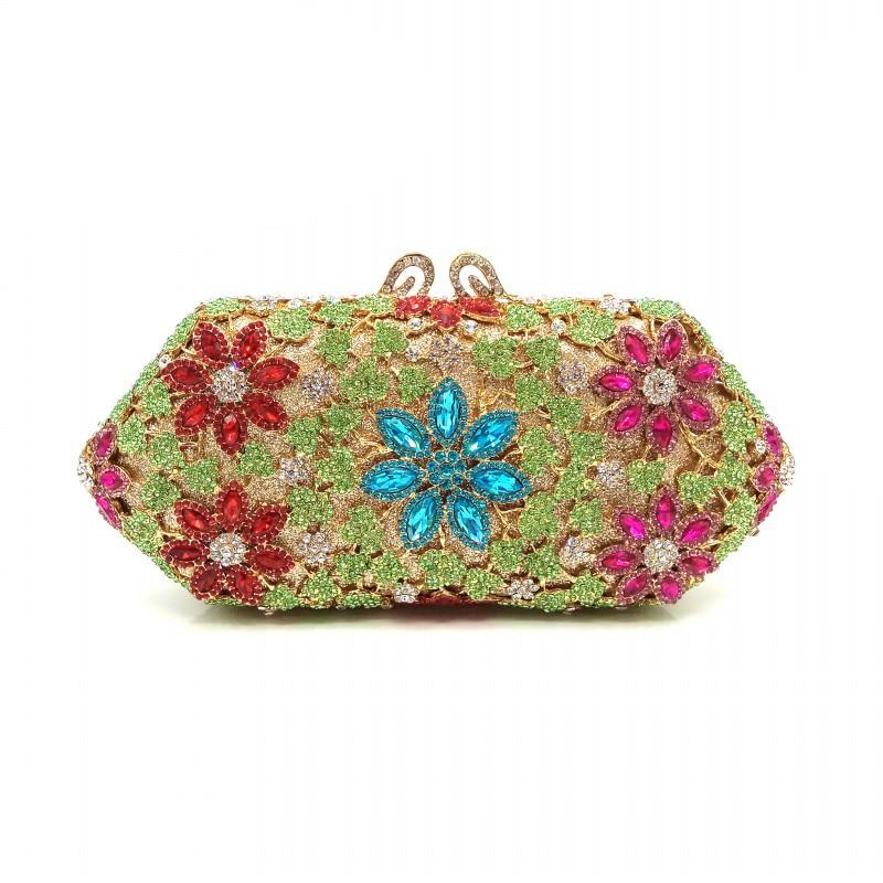 1 Cristal Soirée Élégant En Luxe Main À color Send Nuptiale Noce 2 Pictures color Embrayages Fleur Sac Femmes De Sacs Diamants gxqRAA