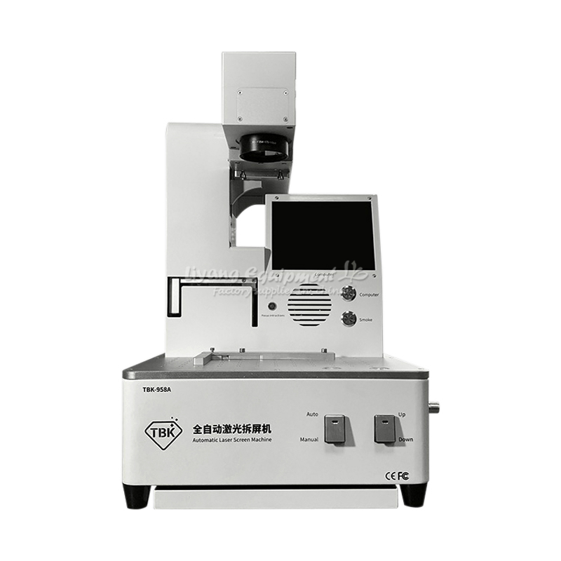 TBK auto focus LCD Fiber Laser Repair Machine 20W 958A Laser engraving machine For phone Back Cover Glass Frame Separating
