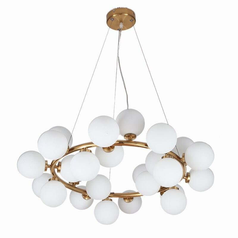 wongshi Modern Gold 25/32/45/46Heads Magic Bean Glass G4 Pendant Lamp DNA Molecular Glass Ball Pendant Light