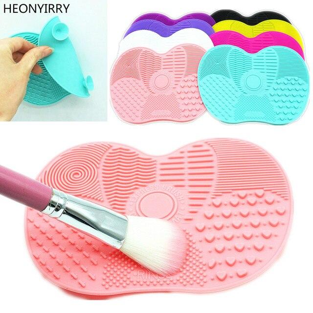 El más nuevo limpiador de cepillo de silicona para maquillaje cosmético cepillo de limpieza de Gel estera de limpieza base de cepillo de maquillaje