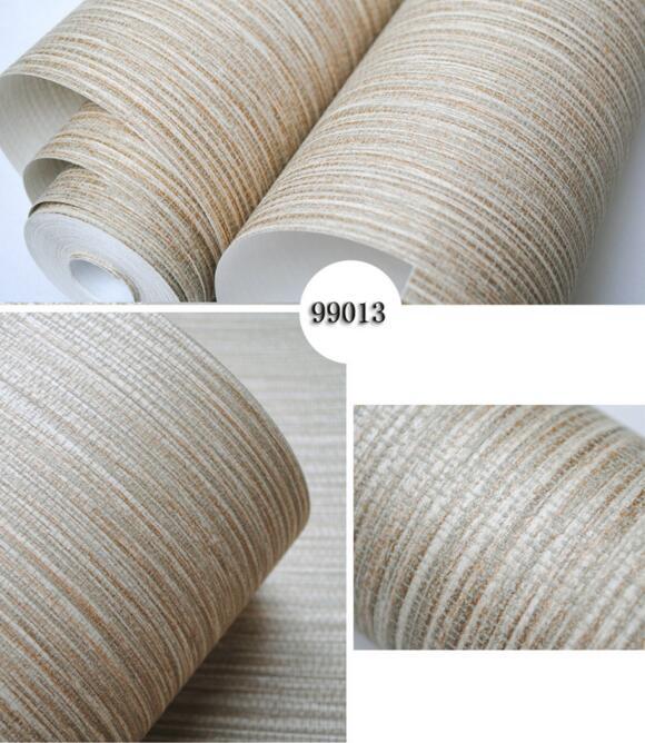 Nature plain green brown bamboo straw textured wallpaper