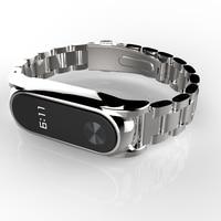 Plus Stainless Steel Metal Strap For Xiaomi Miband 2 Smart Bracelet Watchband Screwless Wristband Xiomi Mi