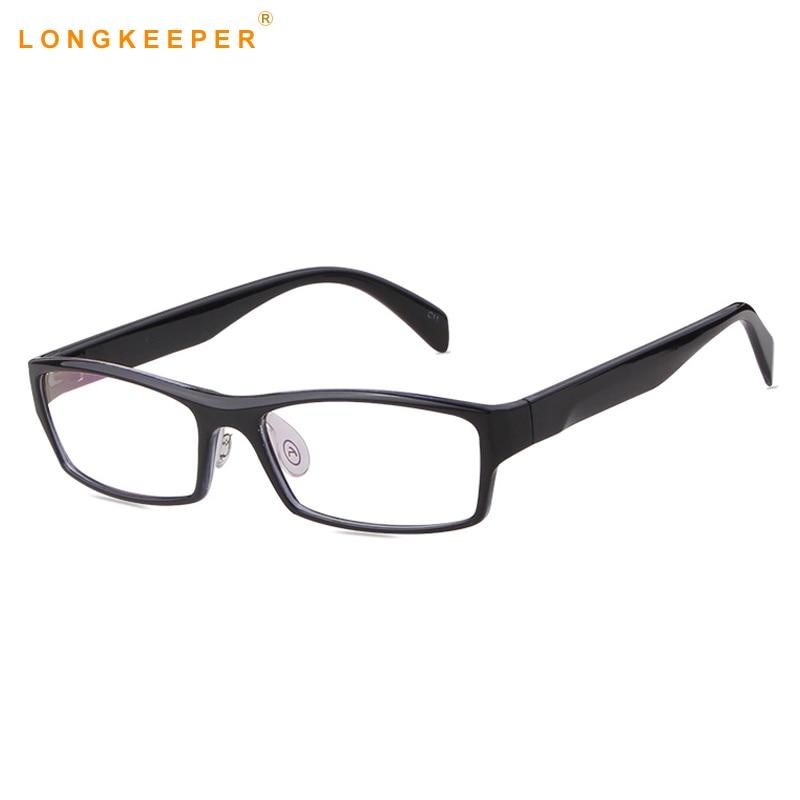 3ae4b5bef79fc 2019 Men Women Square Glasses Transparent Lens Ultralight Frame Eyeglasses  Male Female Blue Neck Fake Eyewear