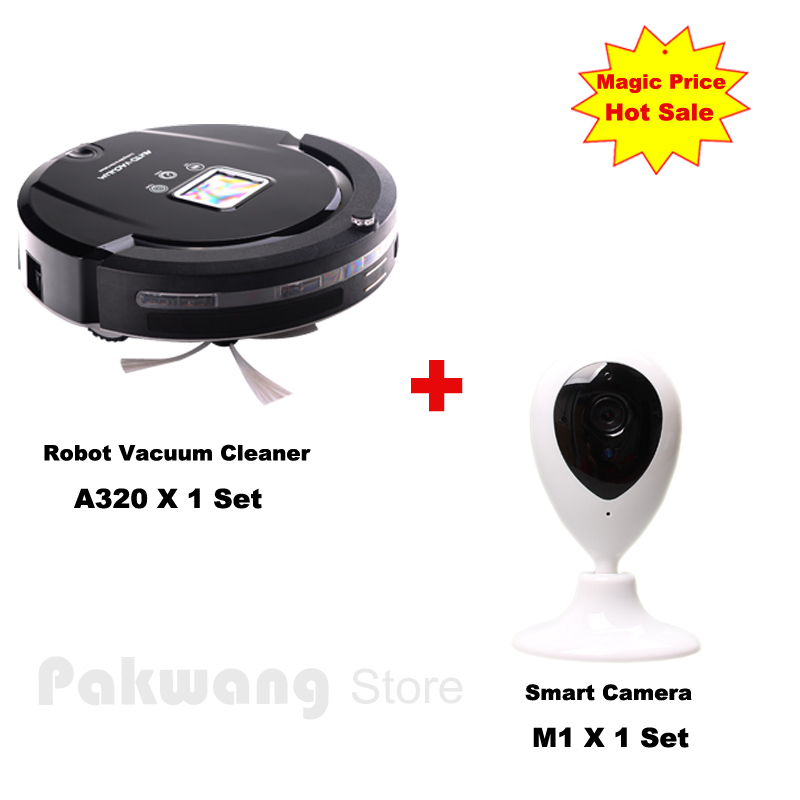 Automatic Robot Vacuum Cleaner A320 with Self Recharge UV sterilization Automatic Function add New Smart Camera Baby/Pet Monitor