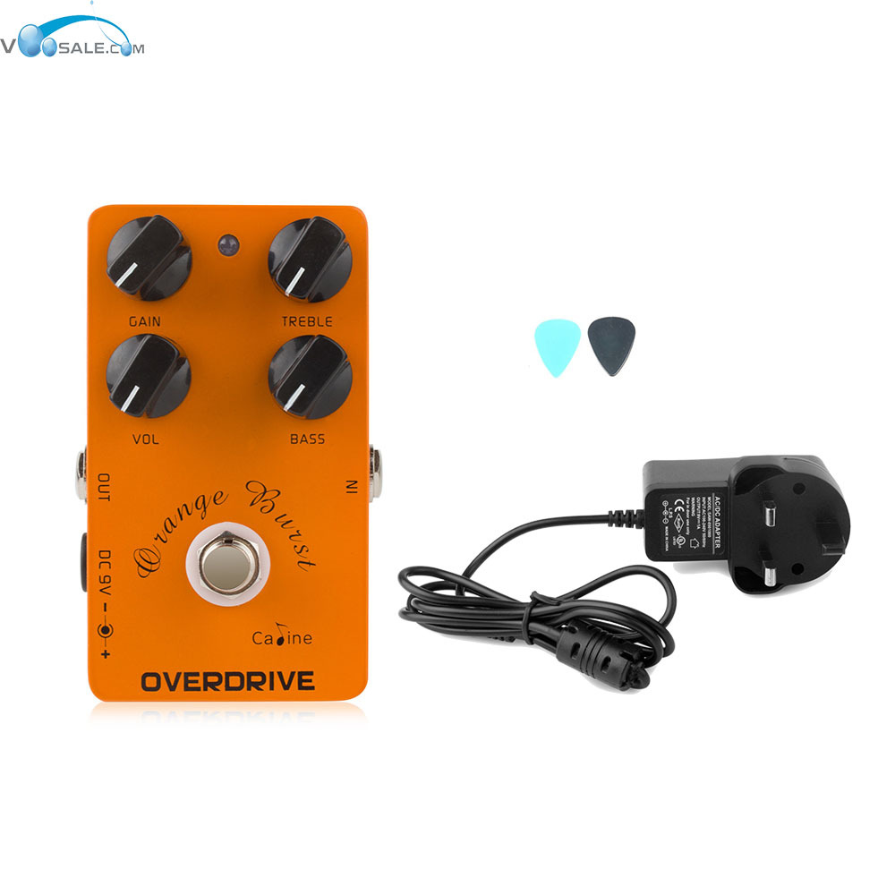 Caline CP-18  Overdrive Guitar Effect Pedal Orange Amplifier Pedal s+AC100V-240V to DC9V/1A Adapter Use Have AU UK US EU Plug 100pcs us eu uk au plug ac line 1 5m dc line 1 2m ac100 240v to dc 24v 1a 24w power adapter 24v1a ac adapter