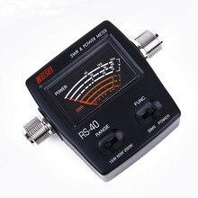 Medidor de potência de swr nissei RS 40 para presunto rádio móvel swr mensurável 144/430 mhz 200 w rs40 vhf uhf medidor de potência para walkie talkie