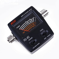 Power SWR Meter NISSEI RS 40 for HAM Mobile Radio SWR Measurable 144/430mHz 200W RS40 VHF UHF Power Meter for Walkie Talkie