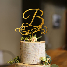 b cake toppers for wedding, Personalized Wedding Cake , rustic monogram topper, initial topper