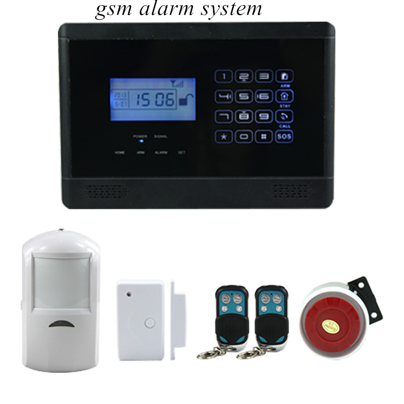 все цены на  LCD screen with clock display touch screen gsm alarm system  онлайн