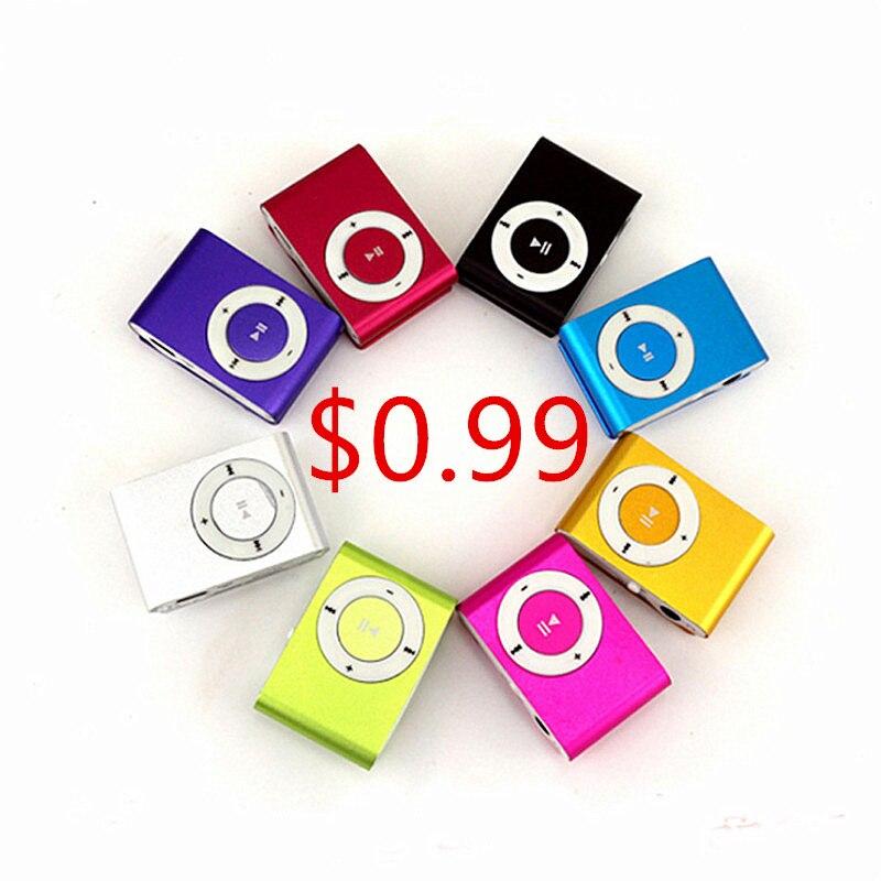 100 Pcs Tragbare Mp3 Player Mini Clip Mp3 Player Sport Mp3 Musik Player Walkman Lettore Mp3 Mit Tf Slot Jack Dropshippshing