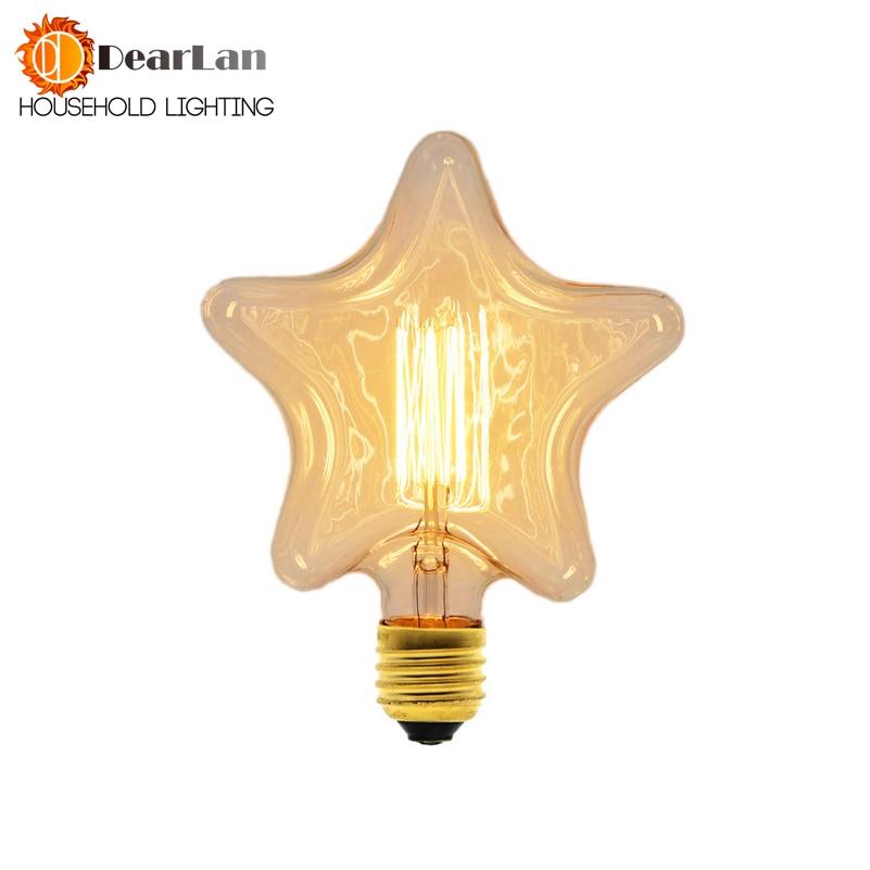 Vintage Edison Bulbs 40W 220V-240V E27 Retro Bulb Tungsten Filament Edison Light Bulbs For Festival Pendant Light(SL-50)