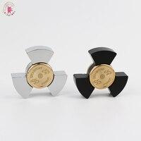 2017 New Seiko Chubby Hand Spinners Metalen Tri Spinner Fidgets Aluminium Alloy EDC Fidget Spinners ADHD