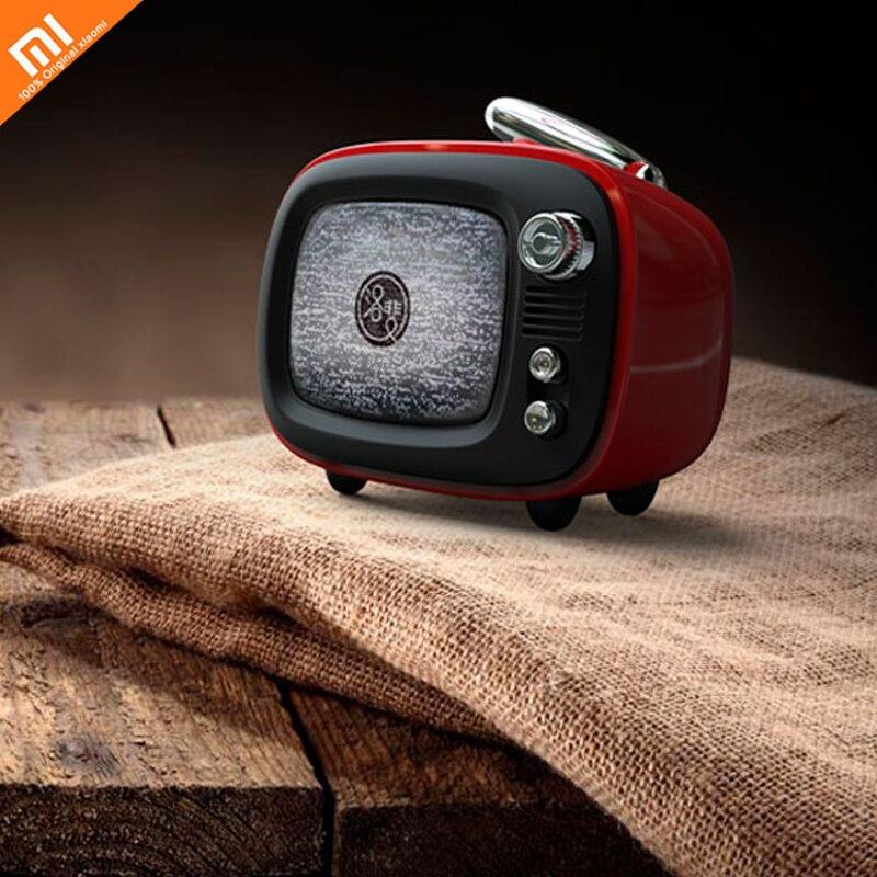 xiaomi mijia TV portable wireless Bluetooth speaker Mini retro TV Recording alarm clock audio confession friend