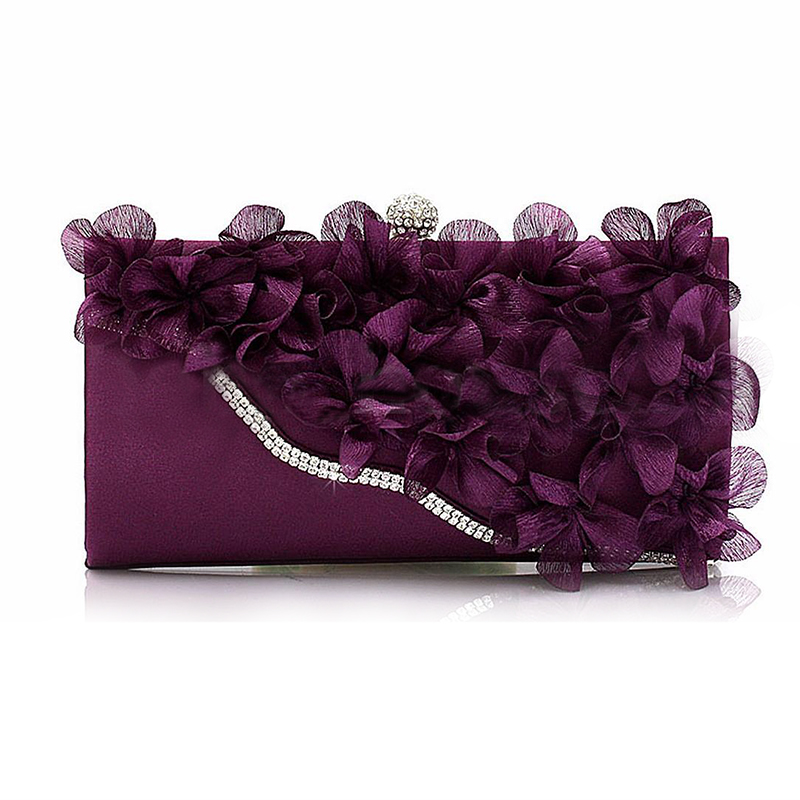 SCYL Lady Satin Clutch Bag Flower Evening Party Wedding Purse Chain Shoulder Handbag краткий курс строительной механики