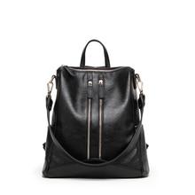 Женские мягкие кожаные рюкзаки высокое качество женские кожаные рюкзак Mochila Feminina опрятный рюкзак школьные сумки для подростков