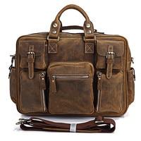 Vintage Crazy Horse Leather Men Travel Bag Of Trip Men Genuine Leather Duffle Bag Men Luggage Bag Overnight Weekend bag Carry On