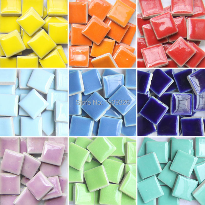 Magideal 220 Pieces Assorted Size Rectangle Vitreous Glass Mosaic