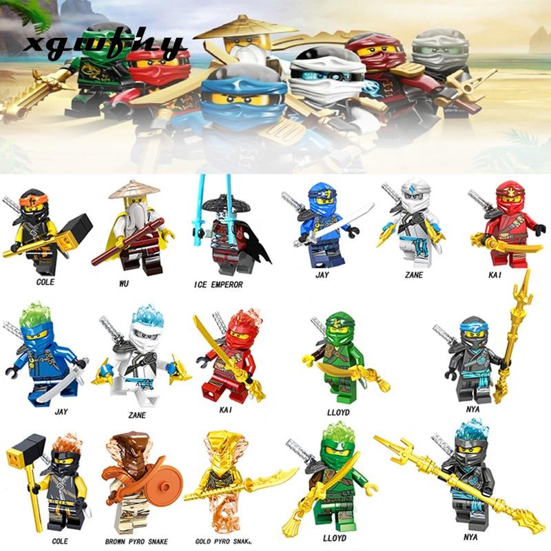 Ninja Ninjagoes Maulkorb Misako Garmadon Jay Kai Jack Jaguar Luke Killow Schlangen Abbildung Bausteine Geschenk Spielzeug JM198