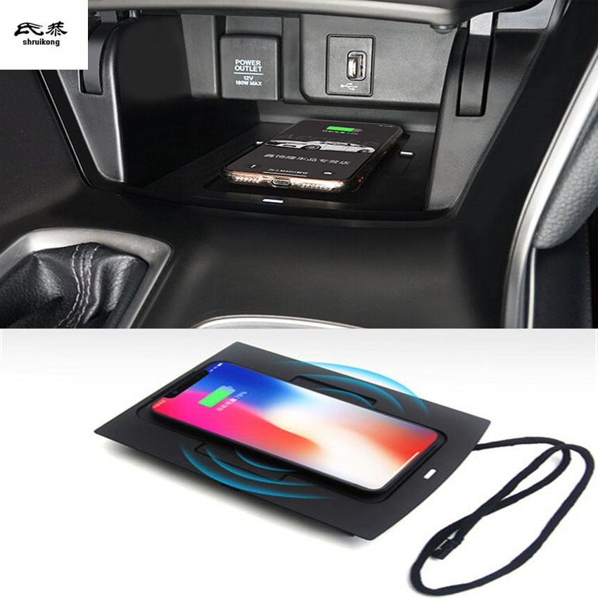 1lot Car Sticker Mobile Phone Wireless Charging Central Armrest Storage Box For 2018 2019 HONDA Accord 10th MK10