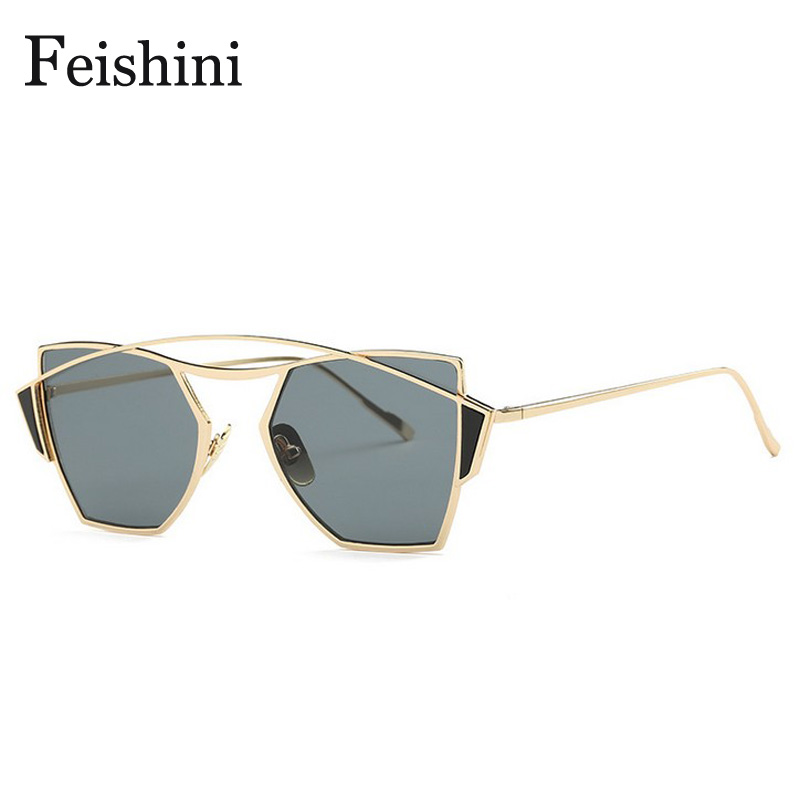 f1cab74a5b FEISHINI Brand Designer High Quality UV Colored Sunglasses Women Cat Eye  2019 Security Protect Eyesight SunGlasses